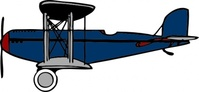 blue,biplane,remix,plane,old,flight,clip art,media,public domain,image,svg,png