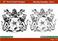 sketchy,heraldry,lion,shield,royalty,design,sketchy,vector,design,design,sketchy,design