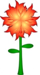 fire,flower,plant,media,clip art,public domain,image,svg