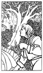 woodsman,wood,forest,job,scene,colouring book