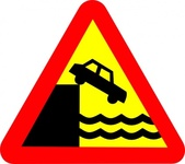 quary,warning,roadsign,sign,quay,transportation