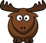 cartoon,colour,animal,mammal,elk,funny,media,clip art,how i did it,public domain,image,png,svg