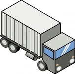 truck,remix,isometric,lorry,vehicle,clip art,media,public domain,image,svg