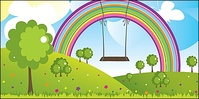 rainbow,flying,trapeze,lovely,scenery,arco ri