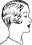 woman,fashion,haircut,hair,head,media,clip art,externalsource,public domain,image,png,svg