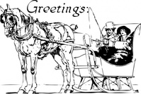 holiday,greeting,media,clip art,externalsource,public domain,image,png,svg,people,couple,sleigh,transportation,animal,horse,winter,season,loc
