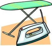 ironing,board,iron,clip