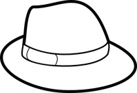 outline,remix,hat,clothing,people,fedora,colouring book,line art
