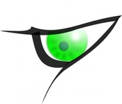 cartoon,green,eye,media,clip art,how i did it,public domain,image,png,svg