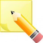 jeremybennett,sticky,note,pencil,remix,colour,cartoon,computer,office,clip art,media,public domain,image,svg