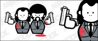 pulp fiction,pistol,trend,cartoon,character,material