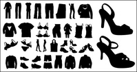 vector,silhouette,clothing,shoe