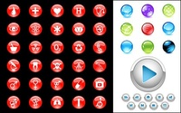 crystal,circular,icon,material,control,button,glossy,sphere,design