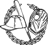 baseball,crest,media,clip art,externalsource,public domain,image,png,svg,ball,bat,glove,cap,laurel,remix problem