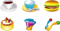 food,graphics,coffee,cup,burger,hanburger,cake,confectionery,dessert,tea,sacuer,juice