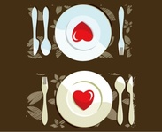 dinner,setting,plat,spoon,fork,heart,steak,knive,placemat.dinner,table,romatic,plat,plat