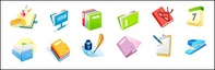 folder,stapler,calendar,ink,pad,spectacle,document,vector,icon