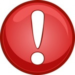 warning,caution,icon,sign,glassy,shiney,symbol,button,circle,red,exclamation mark,attention