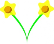daffodil,easter,flower,spring,plant,simple,media,clip art,public domain,image,svg