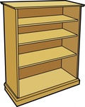 wooden,bookcase,line art,furniture,bookshelf,colour,book,wood