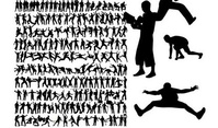 runner,variety,action,figure,silhouette