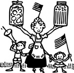 american,canning,food,farm,garden,cooking,family,america,people,cartoon,media,clip art,externalsource,public domain,image,png,svg