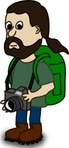 comic,character,trekker,editorial pick,funny,people,cartoon,human,guy,media,clip art,public domain,image,png,svg