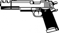 media,clip art,public domain,image,png,svg,weapon,gun,pistol,outline,line art,colouring book,firearm,automatic,technical