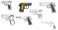 object,set,weapon,gun,military,related,pistol,material,of,45,caliber,9mm,ammo,ammunition,gun,gun,weapon,pistol,gun,gun,weapon,pistol