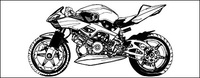 black,white,motorcycle,material