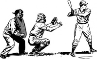 baseball,batter,umpire,catcher,batting,sport,athletics,black & white,contour,outline