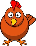 chicken,cartoon,remix,hen,colour,outline,animal,bird,clip art,media,public domain,image,svg