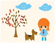 aiko,walking,doggie,chibi,cartoon,walkig,dog,cartoon,the,cartoon