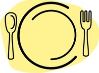iammisc,dinner,plate,spoon,fork,media,clip art,public domain,image,svg,line art,food,clipart_issue
