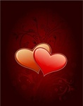 heart,floral,background