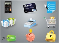 calculator,credit,card,cash,register,save,money,ecommerce,icon,e-commerce,visa,cashier,box,gift,present,pig,piggy,bank,lock.pad,lock,security,tag,buy,shopping,checklist,coin,web,element
