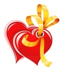 heart,gold,ribbon