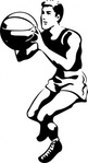 basketball,player,shooter,ball,sport,athletics,line art,outline,black & white