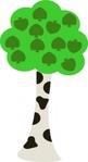 cartoon,tree,media,clip art,public domain,image,png,svg,plant,nature,green,trunk,birch