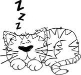 cartoon,sleeping,outline,clip