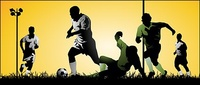 playing,soccer,athlete,vector,material