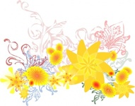 flourishing,flower,remix,yellow,flourish,clip art,media,public domain,image,png,svg