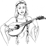 woman,playing,lute,people,medieval,music,musical instrument,string instrument,line art,black and white,contour,outline,media,clip art,externalsource,public domain,image,png,svg,wikimedia common,psf,wikimedia common,wikimedia common,wikimedia common