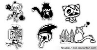 stiker,art,character,icon,free vector,sticker,cat,dog,bird,bike,cartoon,vector art