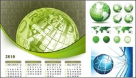 earth,theme,calendar,map,globe,year,green,world,blue,letter,2010,letter,letter