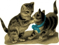 kitten,blue,ribbon,media,clip art,externalsource,public domain,image,png,svg,animal,cat