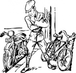 bike,motorcycle,bicycle,choice,man,transportation,media,clip art,externalsource,public domain,image,png,svg