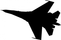 airplane,fighter,silhouette,clip