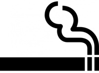 symbol,sign,black and white,aiga no bg,map symbol,silhouette,smoking,cigarette