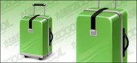 green,suitcase,vector